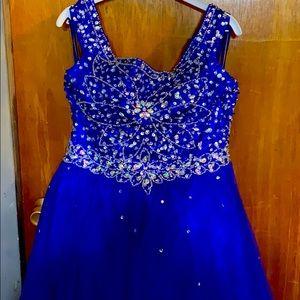 Bead embellished evening dress